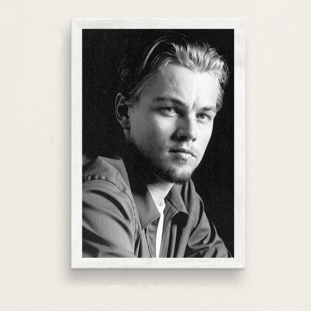 JCYMC Leinwand Bild Leonardo Dicaprio Filmstar Schauspieler Kunst Gem/älde Vintage Leinwand Poster Wand Wohnkultur Mv77Ct 40X60Cm Rahmenlos