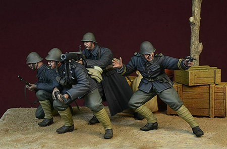 1/35   Ancient Stand Crew Include 4   Resin Figure Model Kits Miniature Gk Unassembly Unpainted