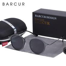 BARCUR yuvarlak güneş gözlüğü kadınlar Steampunk güneş gözlüğü polarize kadın güneş gözlüğü Retro óculos masculino