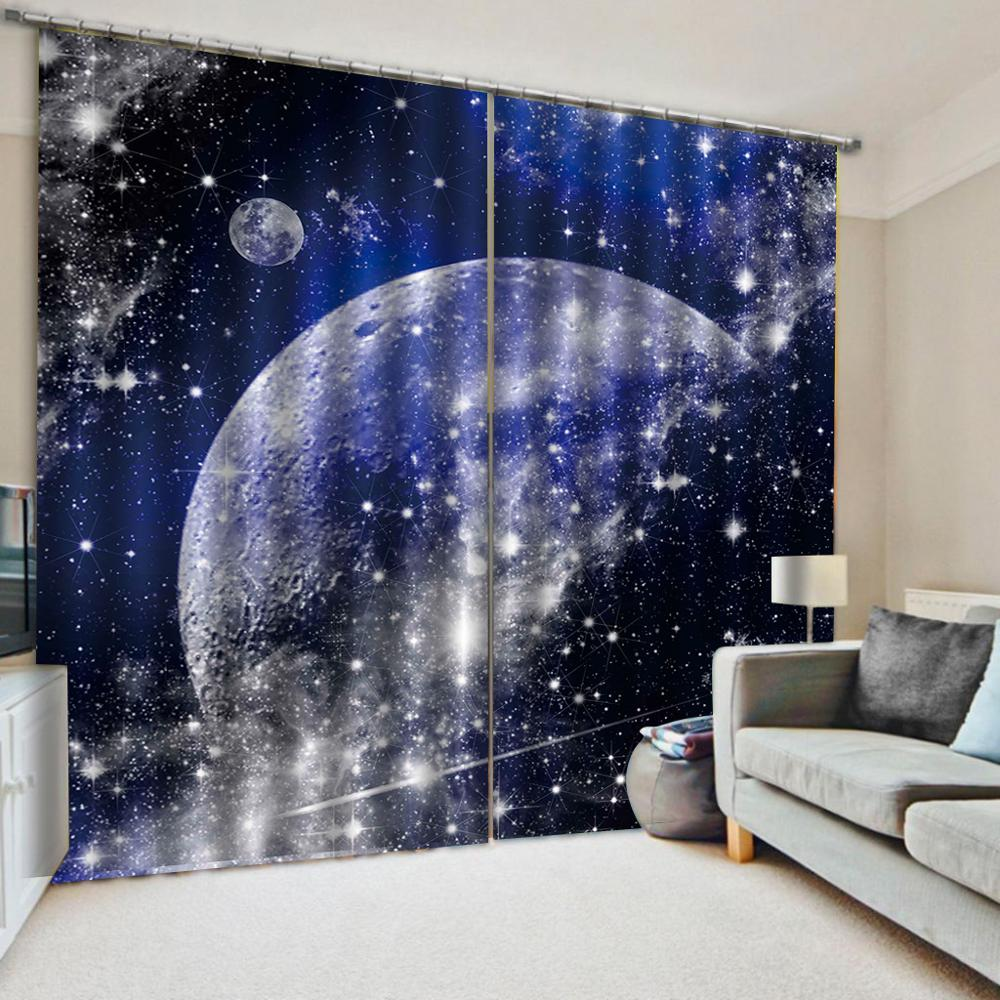 Window Decor Curtain Printed Living Room Curtains Creative Space Design Drapes Blackout