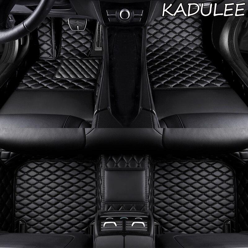 KADULEE tapis de sol de voiture sur mesure pour Dongfeng tous les modèles FengShen AX7 AX3 H30 S30 A60 A30 AX5 AX4 E70 A9 jinyi X5 tapis de sol Double