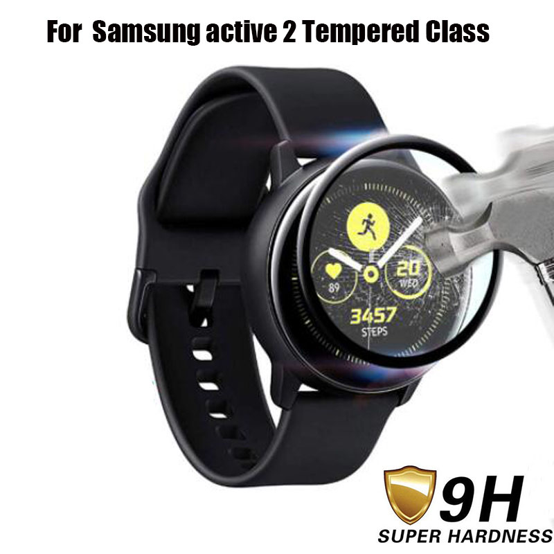 3D Full Curved Coverage Tempered Glass For Samsung Galaxy Watch Active 2 40mm 44mm Screen Protective Glass For Samsung Active 2