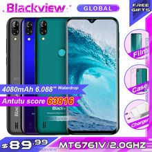 Blackview a60 pro smartphone mtk6761 quad core 6.088 waterwatertela waterdrop 3gb ram 16gb rom android 9.0 4g telefone móvel a60pro