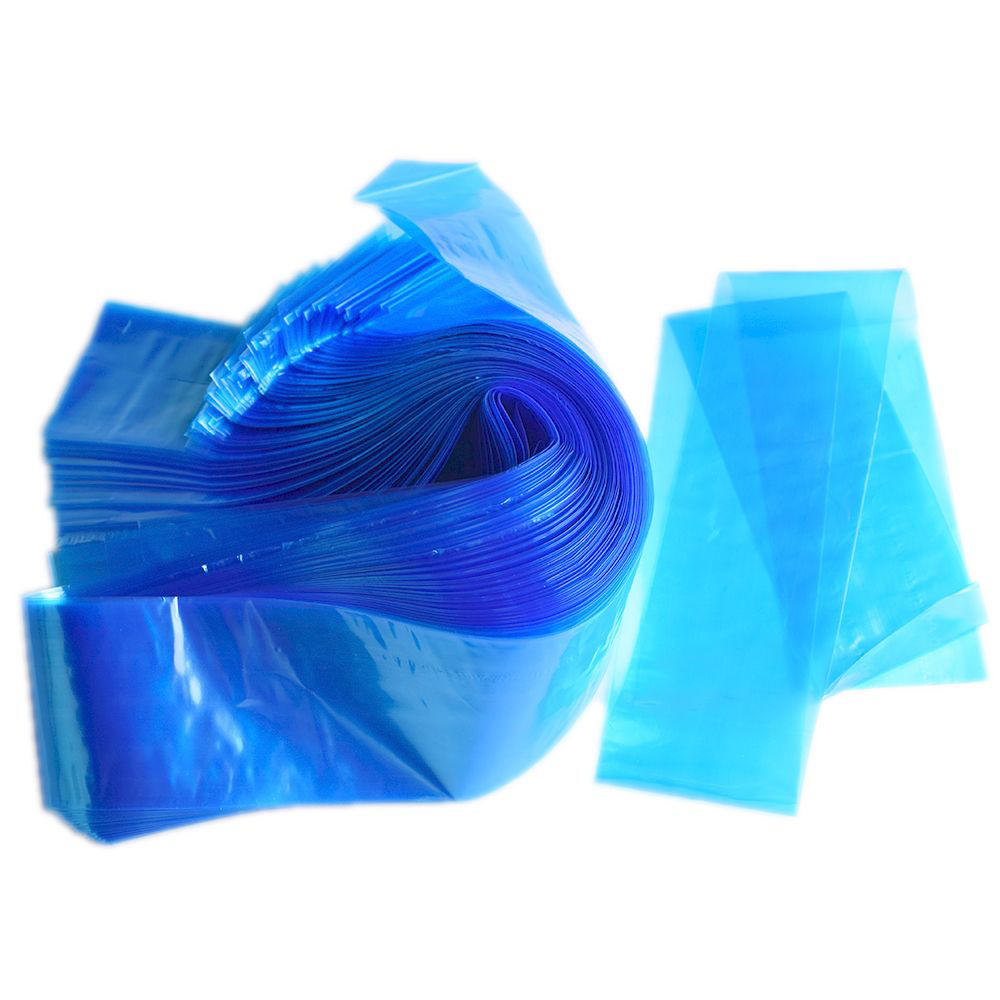 100pcs Medical Blue Plastic Tattoo Machine Clip Cord Sleeves Covers Bags