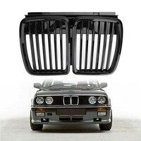 프론트 후드 신장 그릴 그릴 블랙 BMW E30 프론트 그릴 3 시리즈 M3 1982-1994 (광택 블랙)