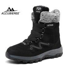 ALCUBIEREE Brand Mens Winter Warm Boots Outdoor High-top Plu