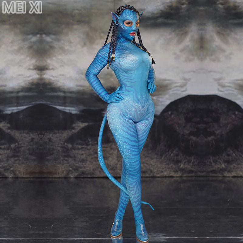 Role Play Alien Elf Male And Female Style Jumpsuit Nightclub Bar Concert DJ Singer/dancer Costumes