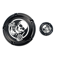 Motorcycle Skull Derby Timer Timing Covers for Harley Touring Softail Dyna FLHT FLTR FLHR FXSB