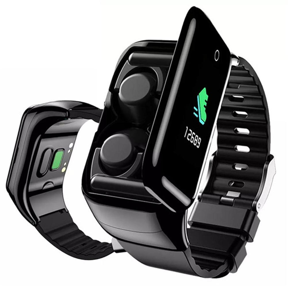Permalink to 2 IN 1 Smart Watch Wireless Headset Sport Fitness Tracker Bracelet Earphones with Microphone for Cell Phones