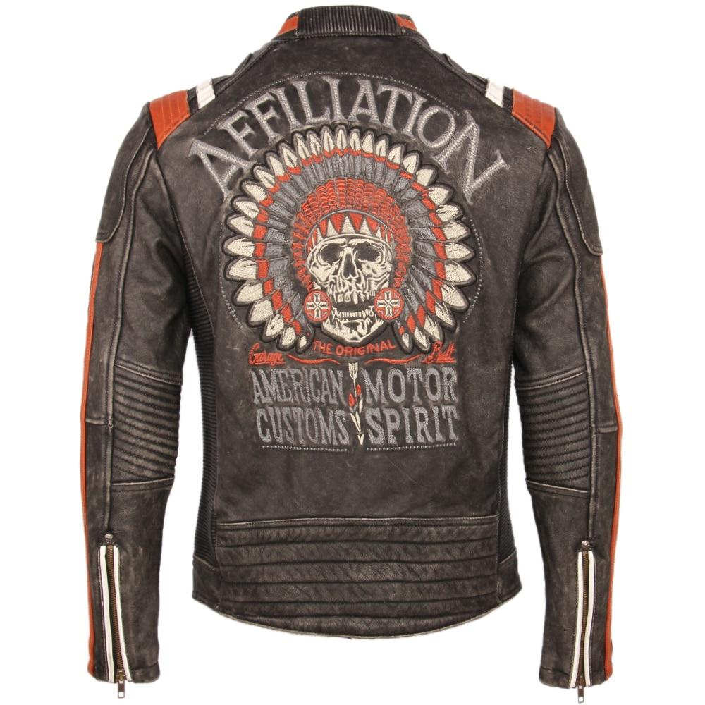 Hb1a95cc5b11f46d3a69cd8d539b61871k Vintage Embroidery Skulls Motorcycle Leather Jacket 100% Real Cowhide Moto Jacket Biker Leather Coat Winter Motor Clothing M220