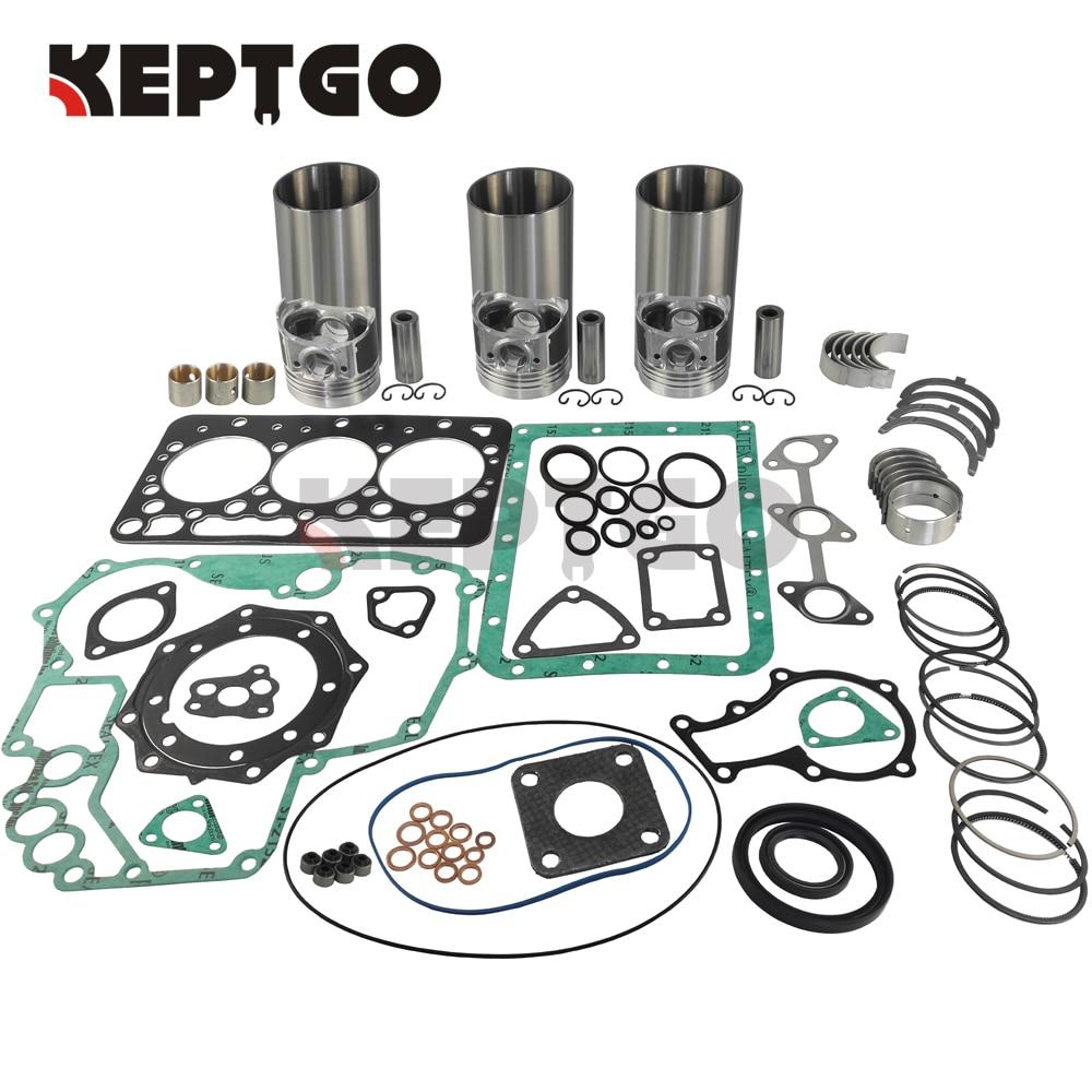 3 Pairs NEW STD Connecting Rod Bearing Kit for Kubota D850 D750 Engine