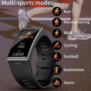 Image 1 - Smartwatch 2021 1.9 אינץ 170*320 מסך DM12 חכם שעון גברים IP68 Waterproof קצב לב לחץ דם Smar להקה עבור אנדרואיד IOS