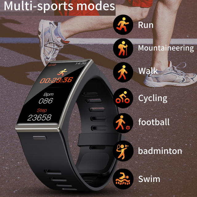 Smartwatch 2021 1.9 אינץ 170*320 מסך DM12 חכם שעון גברים IP68 Waterproof קצב לב לחץ דם Smar להקה עבור אנדרואיד IOS