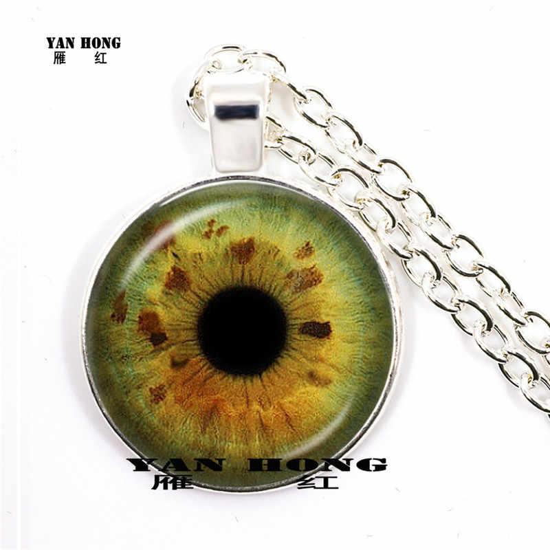 2019 Nova Moda Personalidade Olhos Jóias Cúpula De Vidro Do Olho do Dragão Pingente Colares Para Homens Correntes de Ligação HZ1