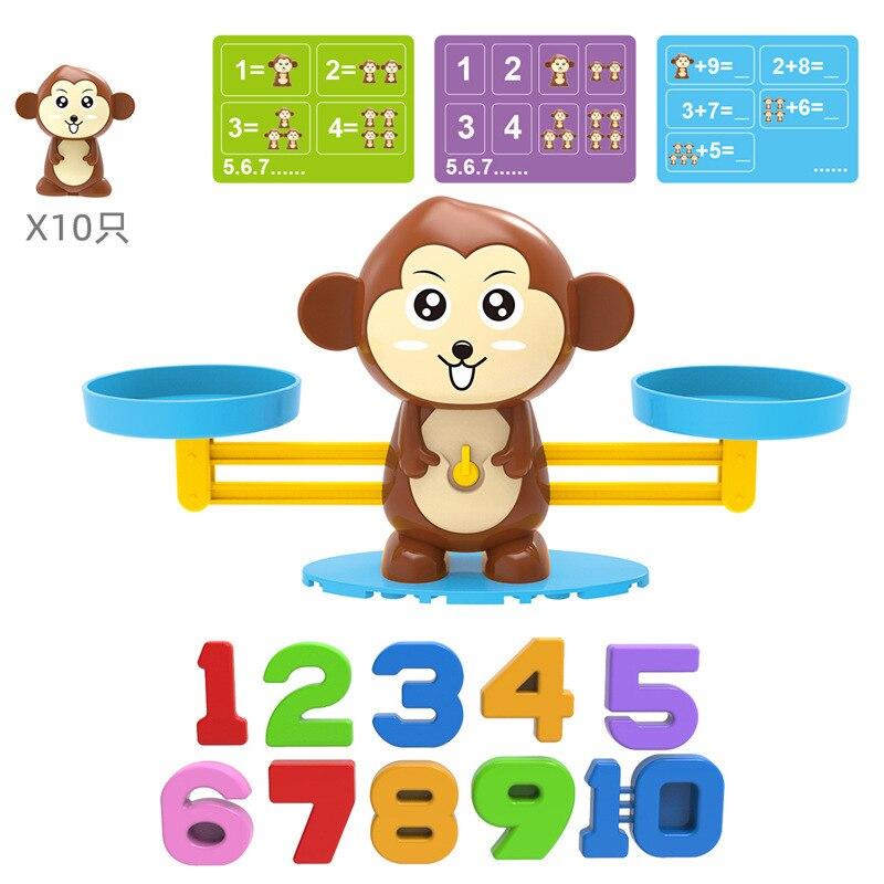 Мини умные обезьяна балансовый масштаб дети Монтессори математическая игрушка цифровая доска игровые Обучающие игрушки обучения Материал