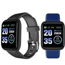 116 플러스 스마트 워치 IP65 방수 혈압 피트니스 트래커 심장 박동 모니터 보수계 Smartwatch 팔찌 밴드 D13