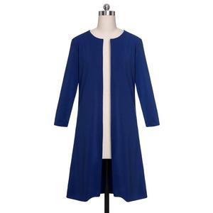 Image 5 - Trajes nuevos de oficina para mujer, vestido Formal, ropa de negocios, Chaqueta larga para mujer, vestido de vaina, conjuntos de 2 piezas, 2019