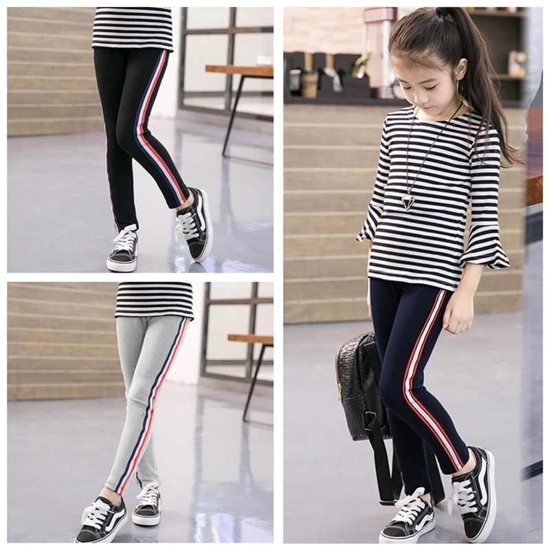 Mallas Deportivas Para Ninas De 3 A 12 Anos Pantalones Largos Elasticos De Retales A Rayas 8 Colores Pantalones Aliexpress