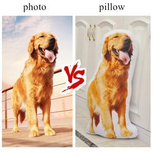 Image 2 - Almohada de personalización de fotos, almohada de viaje creativa para mascotas, foto almofada oreiller, sujeción en forma de almohada, decoración de boda, animal, perro