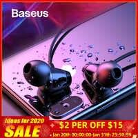 Baseus S09 auriculares Bluetooth inalámbricos IPX5 auriculares impermeables banda para el cuello Fone de ouvido auriculares deportivos auriculares estéreo auriculares
