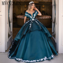 Ball Gown Evening Dresses Long Satin Off The Shoulder Lace-up Backless Lace Appliques Floor Length Evening Dress Robe de soiree black one shoulder backless lace up details sweater dress