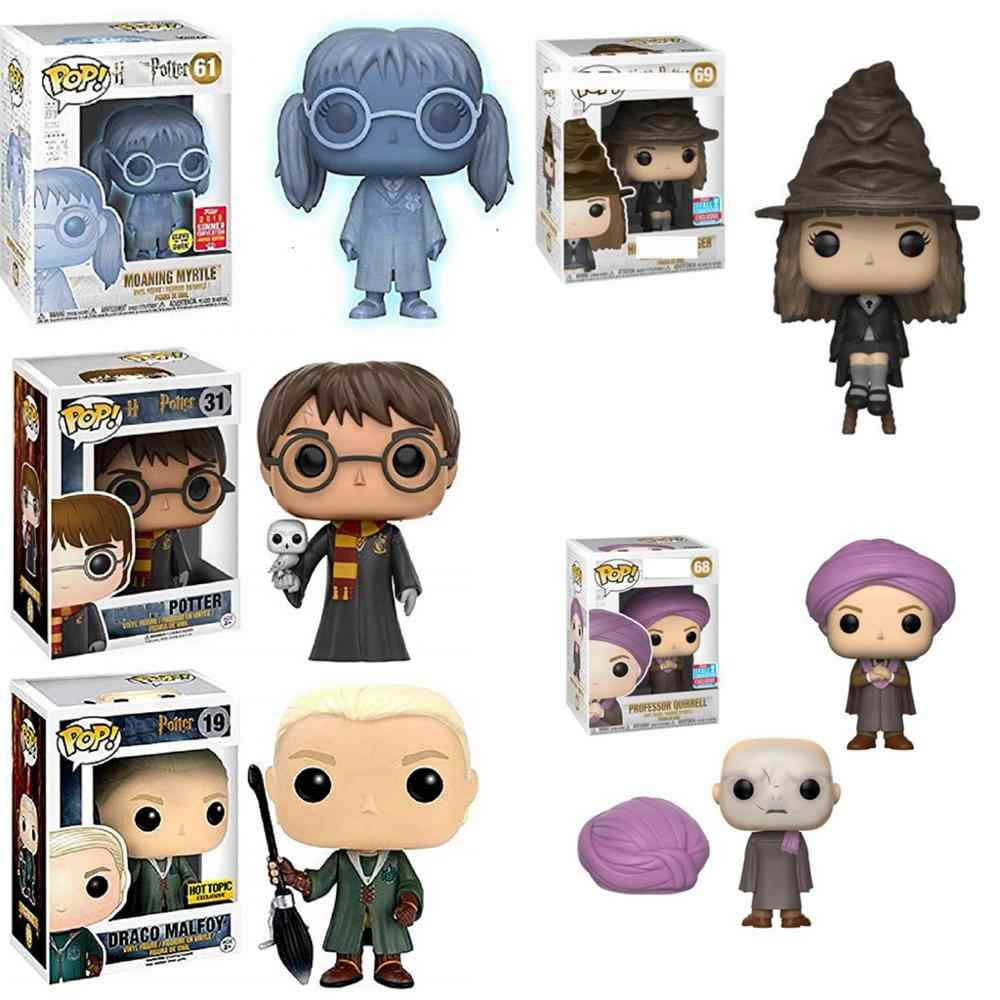Funko POP Anime Harri Potter Severus Snape, Luna, Dobby, RON WEASLEY PROFESSOR Movie Action Figure Coleção TOY Kids