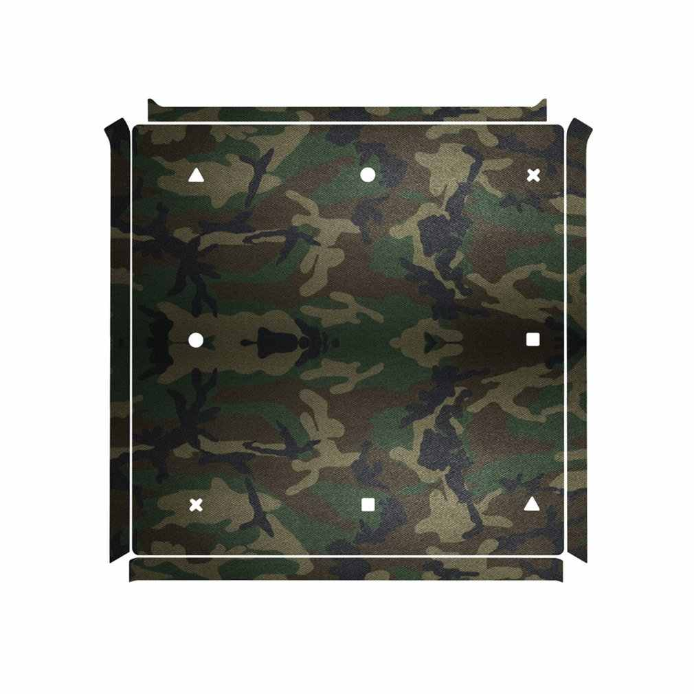 For PS4 Camouflage Plastic Vinyl Skin Sticker Removable Game Console Sticker with 2 Controllers Cover Joypad Decal