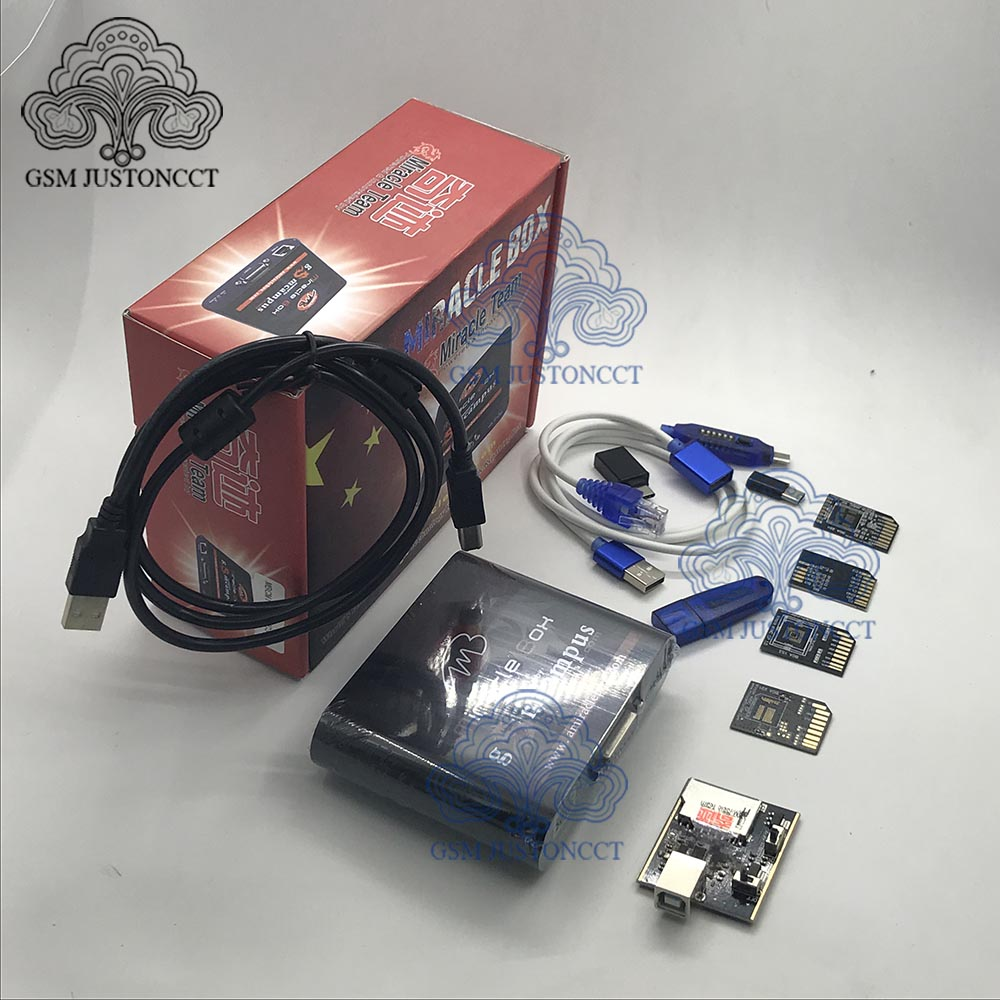 2020 NEW ORIGINAL MIRACLE EMMC Plus 5 IN 1Tool /  Miracle Thunder Dongle / Miracle Box + Miracle KEY