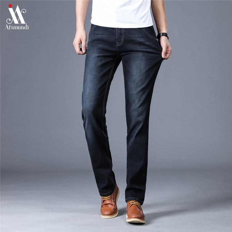 2019 New Men'S Skinny Jeans Brand Male Jeans For Men Straight Homme Jean Slim Distressed Design Biker Pants Fit Black Regular