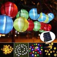 Kaigelin 30 LED Della Stringa Solare Luci di Palla Lanterna Lampade escursione e campeggio Lampada Solare Fata Globo Decorazione Di Natale Della Luce per il Partito di Vacanza