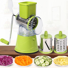 Manual Vegetable Cutter Hand Drum Rotary Grater Shred Potato Slicer Multifunctional Round Mandoline Kitchen Gadgets