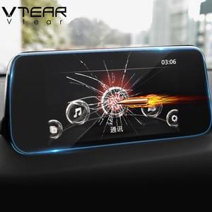 Image 1 - Vtear per Mazda CX5 CX 5 2019 2018 Accessori di Navigazione Gps Temperato Pellicola di Protezione in Vetro Dello Schermo Lcd Adesivo Del Cinema di Car Styling