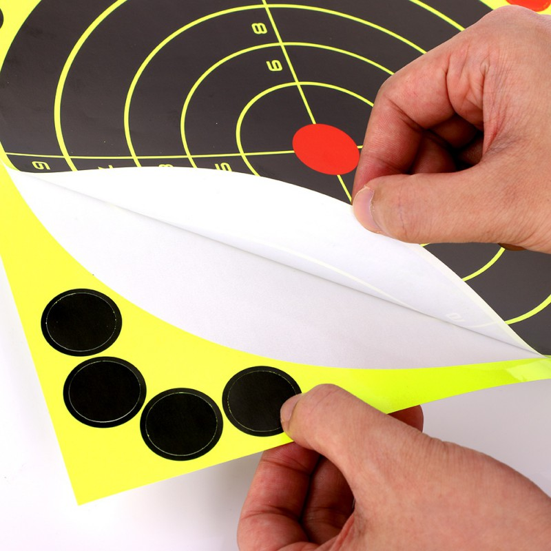 10pack/100 /50 /30 Pack  9.5x12.5 Inches Targets For Shooting Hunting Paster Sticker Paper Roll Packaged Not Folded