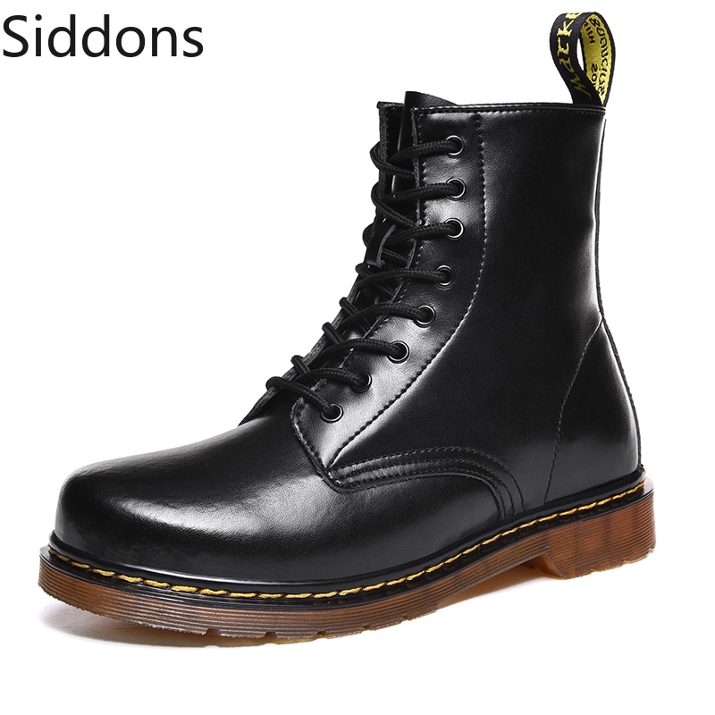 Boots Men Pu Leather Shoes For Winter Boots Shoes Man Casual Spring Non-slip Martin Booties Zapatos De Hombre D65