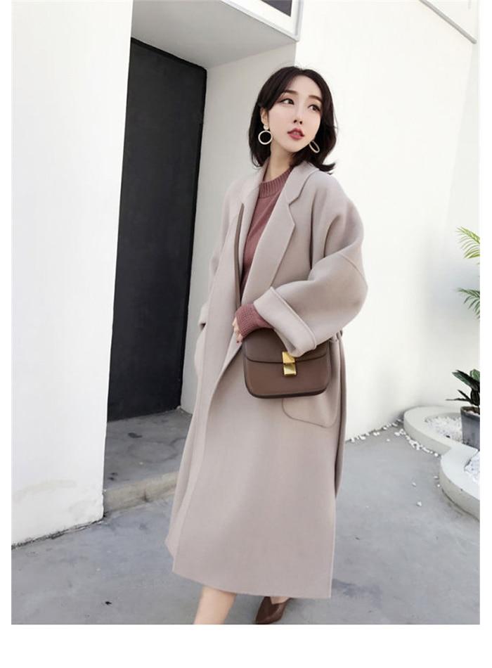 Liva girl Long Coat Winter Coat Women Belted Solid Coat Women's Jacket Women's 5 Colors Coat wool Coat 9