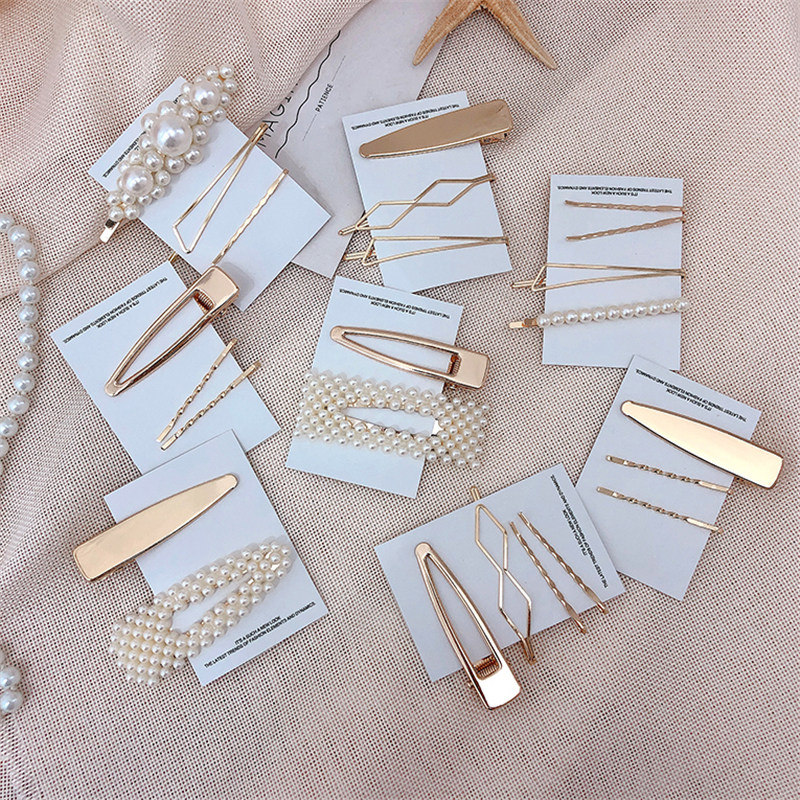 Fashion 3pcs / Set Metal Hair Clips Women  Pearl Hairpin Girls Hairpins Pin Baby Hairpin Hair Accessories Drop Ship New Arrivals