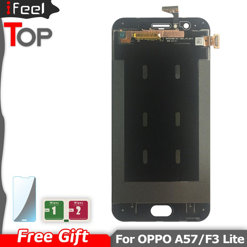 For <font><b>OPPO</b></font> <font><b>A57</b></font> LCD <font><b>display</b></font> with touch screen digitizer assembly For <font><b>Oppo</b></font> F3 Lite <font><b>A57</b></font> LCD Screen Replacement Free shipping image
