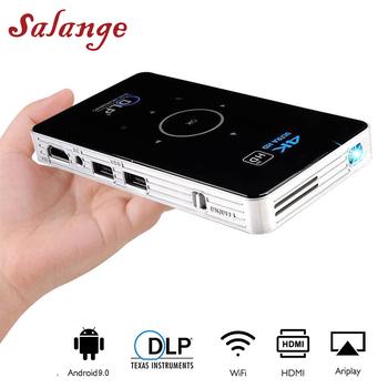Salange C6 Mini projektor 4K Proyector DLP Android projektor WiFi Bluetooth 4 0 LED do projekcji w domu kino wsparcie Miracast Airplay tanie i dobre opinie Instrukcja Korekta Auto Korekty Projektor cyfrowy 4 3 16 9 Focus 100ANSI 854x480 dpi 1500 Lumens C6 Mini Projetor 30-120 inch