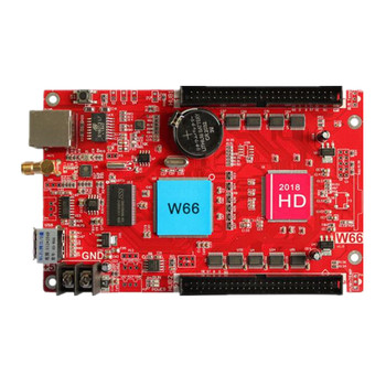 huidu HD-W66 2*50 Pin 2048*512 WIFI+Ethernet+USB port Single and Dual color Seven-color LED screen controller Replace HD-E66