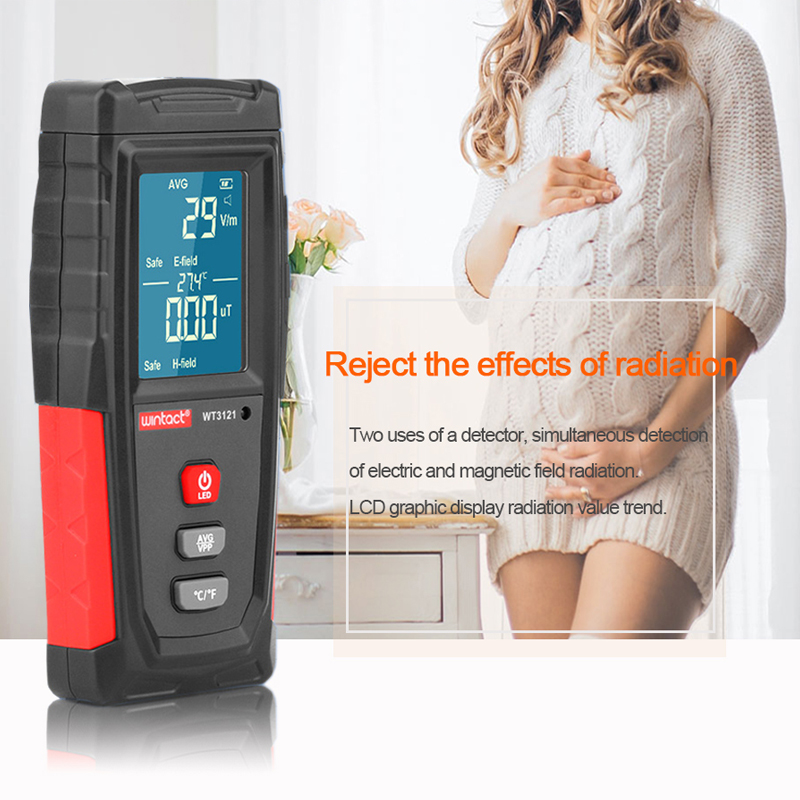 Professional High Precision Mini Digital LCD Household Electromagnetic Wave Radiation Detector Meter EMF Tester Dosimeter Tester