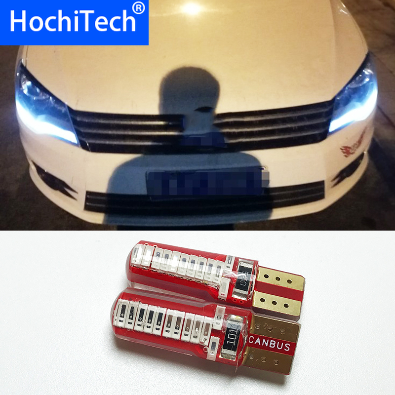 1pc Auto <font><b>LED</b></font> <font><b>T10</b></font> 194 W5W <font><b>Canbus</b></font> 5630 SMD Clearance Lights For <font><b>VW</b></font> Volkswagen Jetta Lavida Polo Bora Vistar Caddy Santana Passat image