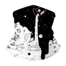 Волшебный Шарф Молоко Узор Полиэстер Шарфы Лицо Пыли Пакет На Открытом Воздухе Банданы Размывы Головные Уборы Анти-УФ Шеи Гетры Угощал