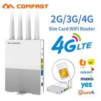COMFAST E3 4G LTE 2.4GHz WiFi Router 4 antenne SIM Card WAN LAN copertura Wireless Extender di rete