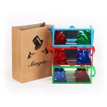 цена на 1pc Magic Creative Magic Toy Paper Bag Flower Box Empty Bag Empty Box Out Magic Props Stage Set Performance
