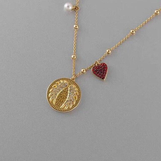 QSJIE  High quality SWA  shiny Wing  . Elegant womens necklaces Glamorous fashion jewelry