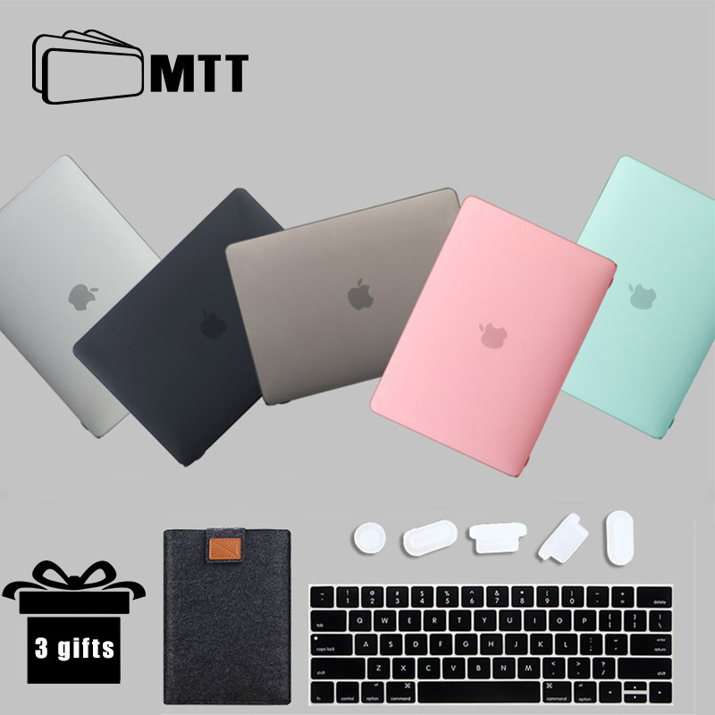 Leather Laptop Sleeve Bag For MacBook Air 11 12 13 15 Inch Touch Bar Matte Cover