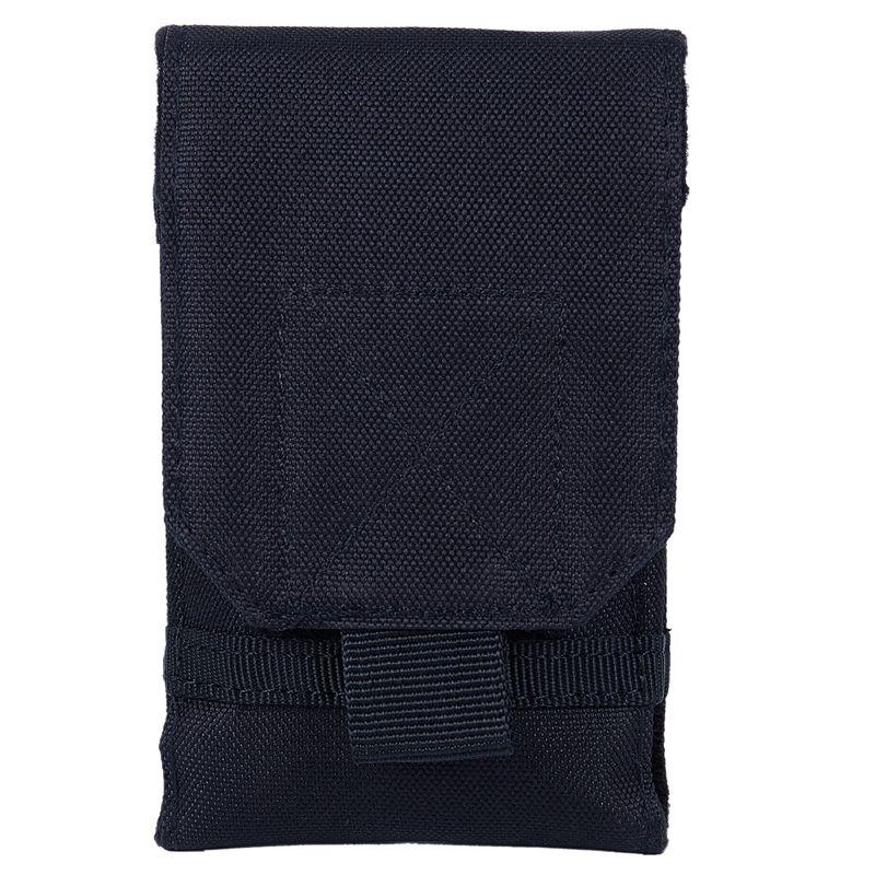 TOP!-Outdoor Camping Hiking Phone Bag Bag Hook Loop Belt Pouch Nylon Mobile Case Black S