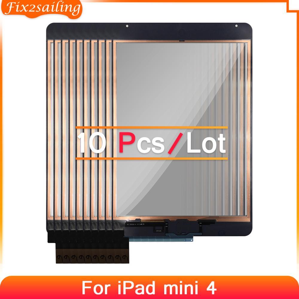 10 pçs toque para ipad mini 4 montagem do painel da tela de toque substituição para ipad mini 4 a1538 a1550 tablet painel de toque de vidro exterior