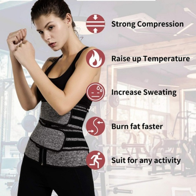 Waist Trainer Corset Sweat Belt For Women Weight Loss Compression Trimmer Workout Fitness 5