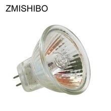 ZMISHIBO 10pcs/Lot Halogen Bulb MR11 GU5.3 AC/DC12V 220V 35W 50W Dimmable Spot Lights Glass 35MM Downlight Fitting Wall Lamp